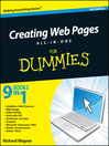 Creating Web Pages All-in-One For Dummies (eBook)